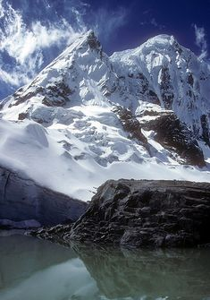 Mt Huascaran - Huaraz, Ancash, Peru. Highest peak of the Peruvian Andes.