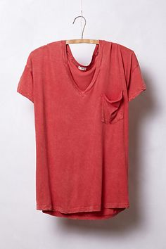 Boyfriend V-Neck Tee || copper and white