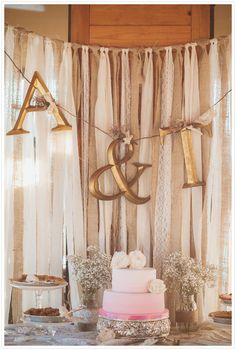 drop ribbon backdrop with photos instead of letters Wedding 2017, Diy Wedding, Rustic Wedding, Wedding Ideas, Bridal Shower Decorations, Wedding Decorations, Ribbon Backdrop, Fabric Backdrop, Backdrop Wedding