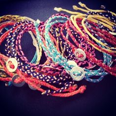 Scosha signature friendship bracelets in summer colors