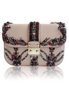 Valentino crystal shoulder bag... i'm crying inside that this isn't in my closet