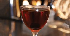 Earthy Cynar and Maraschino liqueur balance each other in this smooth bourbon-based coupe. Bourbon Cocktails, Whiskey Drinks, Cocktail Drinks, Cocktail Recipes, Alcoholic Drinks, Beverages, Triple Sec, Wine And Beer, Earthy