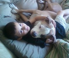 Now that's Love!   Patrick, a Jr. Pit  Bull Crew Dog Rescue member, with his best friend Star baby     WWW.THEPITBULLCREW.COM