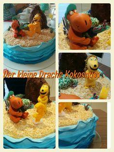 Der kleine Drache Kokosnuss - Geburtstagstorte Birthday Parties, Birthday Cake, Cupcakes, Amelie, Fondant, Party Ideas, Desserts, Food, Little Dragon