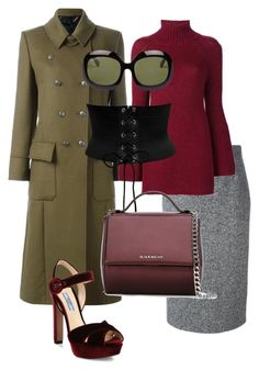 """""""Military chic"""" by polymaven-886 ❤ liked on Polyvore featuring Belstaff, Prada, RED Valentino, Rosetta Getty and Givenchy"""