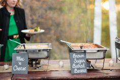 Rustic Wedding -  Aspen - Smoked BBQ Buffet Style Dinner - Chalkboard Slates - Yum!!