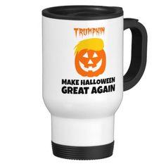 Donald Trumpkin Pumpkin Make Halloween Great Again 15 oz Stainless Steel Travel Mug