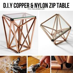 DIY Copper Pipe Table - things like this is when I wish I had a boyfriend that was handy.