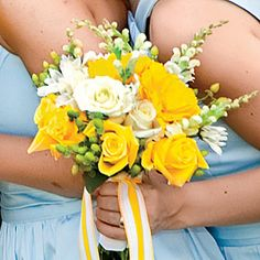 Beautiful Bridesmaids' Bouquets | Yellow Bouquet | SouthernLiving.com