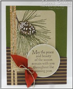 Ornamental Pine, pine branch, pine cone, Under the Tree, Stampin' Up!, #stampinup, Christmas, Connie Babbert, www.inkspiredtreasures.com  Check out my Adhesive Sale Nov. 9-23!