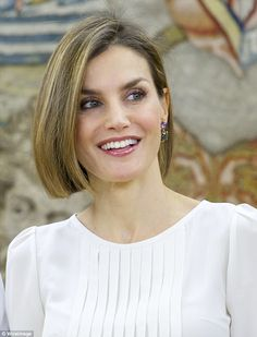 Royals & Fashion - Queen Letizia held hearings at the Zarzuela Palace, in Madrid.