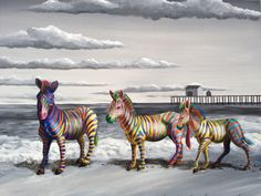 "MOARRR - Fun and playful ""Pop Surrealist"" paintings..."