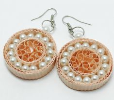 Paper Quilling Earrings Designs