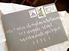 CALLIGRAPHY ENVELOPE ADDRESSING in Longbottom by LetterBeOnEtsy