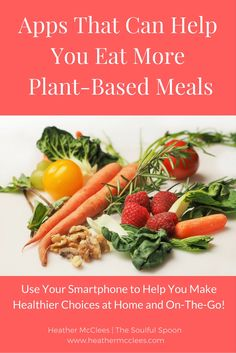 Apps That Can Help You Eat More Plant-Based Meals - Heather McClees - The…