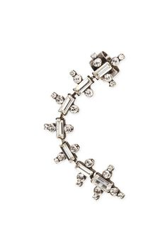 """Oxidized silver plated ear cuff.For pierced ears; cuffed top clips to cartilage. Made in New York.    Measures: 3"""" L   Silver Ear Cuff by DanniJo. Accessories - Jewelry - Earrings - Ear Cuffs Toronto, Canada"""