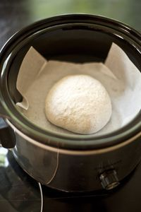 Homemade bread in the crockpot -- bakes in an hour, saves from heating up kitchen and you don't have to let it rise!