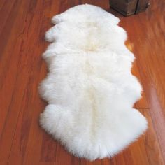 Fur Genuine Ivory White Sheepskin Rug Genuine leather non-slip backing. Dimension: X Approximately Double Pelt Rug Color: Ivor Glam Bedroom, Bedroom Decor, Bedroom Ideas, Beautiful Bedrooms, Beautiful Interiors, Wall Trim Molding, Vintage Glam, Bedroom Flooring, Rugs