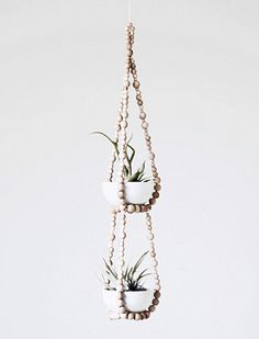 PEARLS || Beaded Plant Hanger | http://www.etsy.com/listing/92444889/tiered-small-beaded-plant-hanger