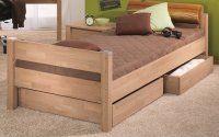Łóżko młodzieżowe z dwoma zagłówkami PAIDI EIKE 90x200cm kompletne