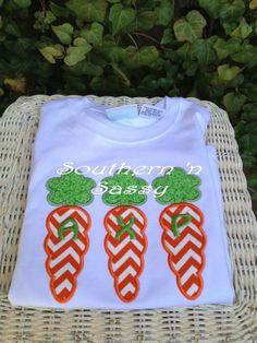 Monogram Carrot Easter T-Shirt on Etsy, $25.00