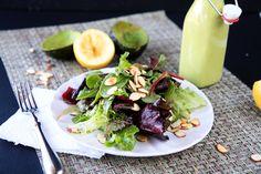 Creamy avocado vinaigrette -- sounds perfect for summer salads!