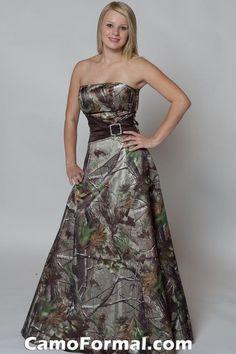 Camo Prom/Bridesmaid Dress  @Stephanie Close Close Meza  @Chantal Crawford   (For Teneal someday???)  :o)