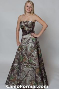 Camo Prom/Bridesmaid Dress  @Stephanie Close Close Meza  @Chantal Crawford   (For Teneal someday???)  :o)