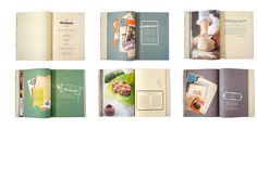 Two examples of cookbooks designed by Edholm Ullenius a graphic design & illustration partnership based in Sweden. Alessandri design T. Page Layout Design, Book Layout, Menu Design, Food Design, Editorial Design Layouts, Recipe Book Design, Cookbook Design, Recipe Book Covers, Recipe Books