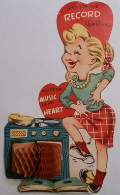 Vintage Record Player Honeycomb Valentine Card | Flickr - Photo Sharing!