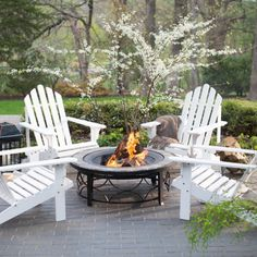 Coral Coast Pleasant Bay Adirondack Brighton Fire Pit Chat Set   Adirondack  Chairs At Hayneedle