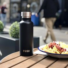 This stunning stainless steel, reusable water bottle is ready for any occasion whether that's sat on your office desk, by your side at the gym, or at the dinner table. Go Green, Dinner Table, Water Bottles, Office Desk, Stainless Steel, Gym, Photo And Video, Black, Instagram
