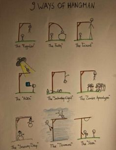 9 ways of hangman