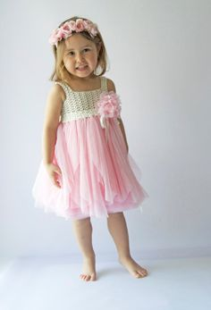SALE. Ready to ship. Size 3 Years.Ivory and Pink by AylinkaShop
