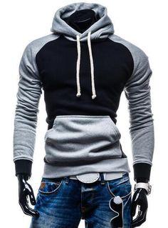 Leif Nelson pour des Hommes Pullover Longsleeve Hoodie Sweatshirt Sweatshirt Basic col Rond Manche Longue Oversize Shirt Hoody Sweater LN6322