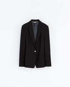 Black wool blazer by Zara.