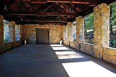 Stone Pavilion at Indian Springs State Park Landscape Architecture Drawing, Architecture Quotes, Modern Architecture House, Classical Architecture, Conceptual Design, Hallway Decorating, Pavilion, Indian Springs, Stone