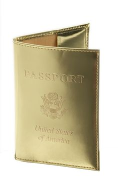Gold passport. You can breeze through security with one of these babies.