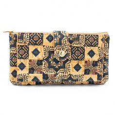 Portofel de dama, model mozaic, cork - MyMan
