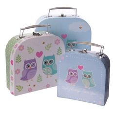 Shop today for Fun Set of 3 Card Craft and Trinket Boxes - Love Owls by weeabootique !
