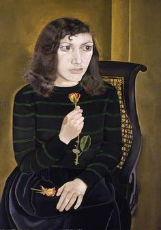 Lucian Freud, Girl with Roses, 1948, oil on canvas, 106 x 75 cm, British Council Collection, London