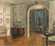 Le Salon Carr de la Villa Trianon by Walter Gay. Oil on canvas, c. Elsie De Wolfe, Decoration, Art Decor, Trianon Versailles, Villa, Interior Rendering, Interior Design, Vintage Interiors, French Interiors