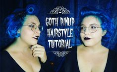 Goth pinup hairstyle on my dear friend,  the video is on my YouTube channel! ⚡