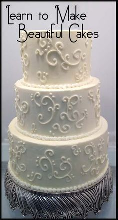 Learn to make Beautiful Cakes- great tutorials here.