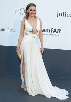 If Cannes has the most glamorous red carpet of the year, then the AmFar Gala, held annually during the film festival, is the ultra-ultra glam cherry Latest Celebrity News, Celebrity Style, Kylie Minouge, Haute Couture Dresses, Celebs, Celebrities, Roberto Cavalli, Dress Outfits, Red Carpet