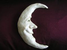 polymer clay crescent moon   Crescent Moon Sculpture by Spoonies on Etsy