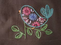 bird detail.jpg | Made with a pattern from the HoopLove vint… | Flickr