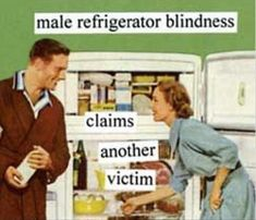 """""""Look honey, If you bend at the waist, you can see all the things on the lower shelves."""""""