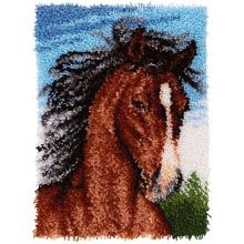 Kits for embroidery Latch Hook Kit Rug set of crochet hooks DIY Craft horse rugs Set for embroidery animal Big Diy Crochet Hook, Homemade Rugs, Latch Hook Rug Kits, Sewing Crafts, Diy Crafts, Horse Rugs, Embroidery Supplies, Needlepoint Kits, Rug Hooking