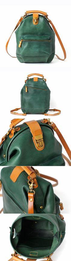 6738f25c28 Handmade Full Grain Leather Backpack